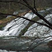横から見た滝