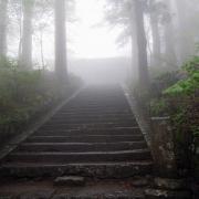 阿弥陀堂の石段