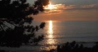 日本海の夕陽