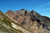 峰の茶屋跡から朝日岳
