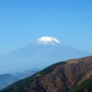 秋色の阿夫利神社と美しい富士山―2007紅葉の丹沢・大山 その二