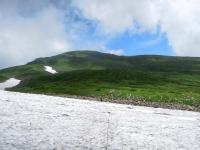 雪渓と晴れ間110813_1