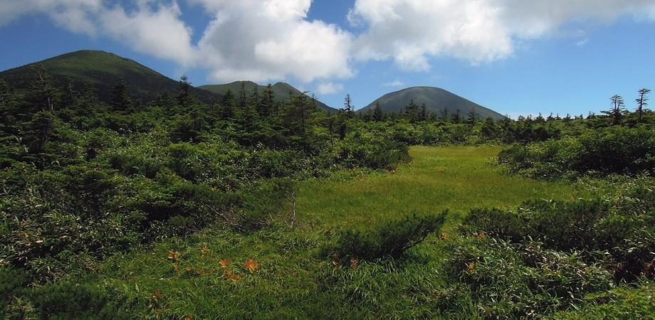 田茂萢湿原から赤倉岳へ