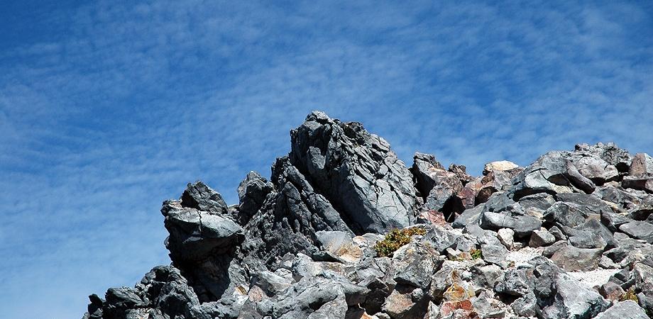 茶臼岳-岩塊