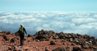 茶臼岳山頂から雲海